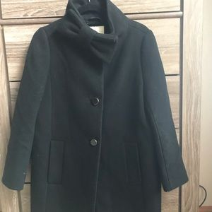 NWT Kate Spade bow neck wool coat